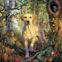 Yellow Lab Dogs Jigsaw Puzzle