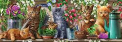 Kittens (Long Shots) Dogs Panoramic Puzzle
