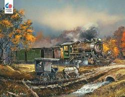 Amish Train Trains Jigsaw Puzzle
