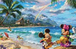 Mickey and Minnie in Hawaii Hawaii Jigsaw Puzzle