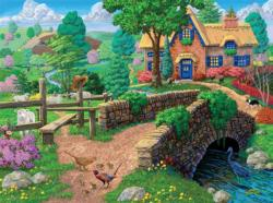 Fence Steps Cottage (Joseph Burgess) Cottage / Cabin Jigsaw Puzzle