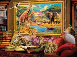 Savannah Coming to Live Jungle Animals Jigsaw Puzzle