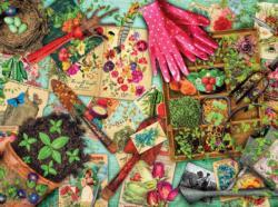 Vintage Garden (Aimee Stewart Vintage) Pattern / Assortment Jigsaw Puzzle
