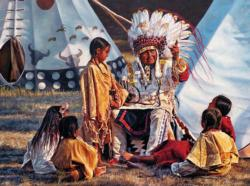 Buffalo Tales (Native Portraits) Native American Jigsaw Puzzle