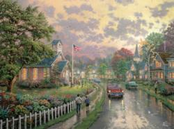 Morning Pledge (Thomas Kinkade 1000 Piece) Countryside Jigsaw Puzzle