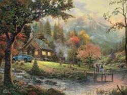 Peaceful Moments (Thomas Kinkade 1000 Piece) Cottage/Cabin Jigsaw Puzzle