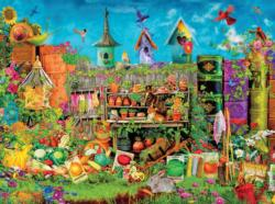 In the Garden (Aimee Stewart Hidden) Bunnies Jigsaw Puzzle