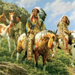 Warriors Native American Jigsaw Puzzle
