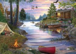 Cabin Lake Cottage / Cabin Jigsaw Puzzle