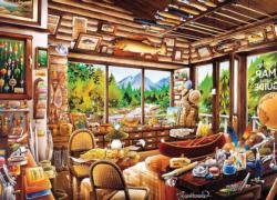 Fishing Map and Guide Cottage / Cabin Jigsaw Puzzle
