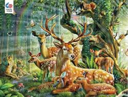 Deer Family Forest Jigsaw Puzzle