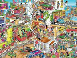 Who Started This Mess? (1500 Piece Puzzles) - Scratch and Dent Cartoons Jigsaw Puzzle