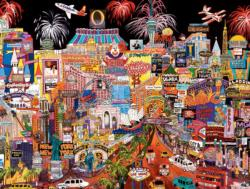 Vegas - City Lights (1500 piece puzzles) - Scratch and Dent Las Vegas Jigsaw Puzzle