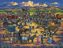Golden Spike Folk Art Jigsaw Puzzle