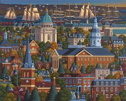 Annapolis - Scratch and Dent Folk Art Jigsaw Puzzle