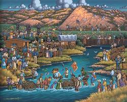 Pioneer Trek Folk Art Jigsaw Puzzle