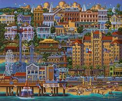 Galveston, Texas Americana & Folk Art Jigsaw Puzzle