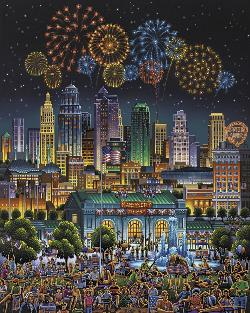 Kansas City Fireworks Jigsaw Puzzle