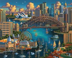 Sydney Folk Art Jigsaw Puzzle