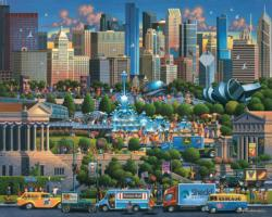 Chicago Folk Art Jigsaw Puzzle