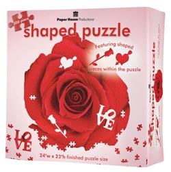 Red Rose Valentine's Day Shaped Puzzle