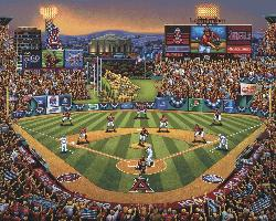 Los Angeles Angels Folk Art Jigsaw Puzzle