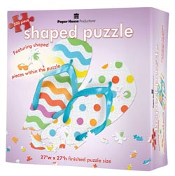 Flip Flops 2 Summer Shaped Puzzle