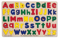 Upper & Lowercase Alphabet Alphabet/Numbers Children's Puzzles