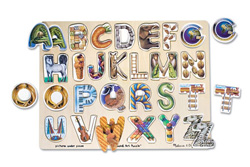 Alphabet Art Alphabet/Numbers Children's Puzzles