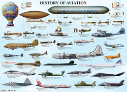 History of Aviation Pattern / Assortment Jigsaw Puzzle