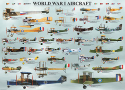 World War I Aircraft Pattern / Assortment Jigsaw Puzzle