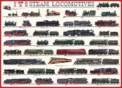 Steam Locomotives Pattern / Assortment Jigsaw Puzzle