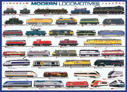 Modern Locomotives Trains Jigsaw Puzzle