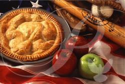 Baseball and Apple Pie Food and Drink Wooden Jigsaw Puzzle