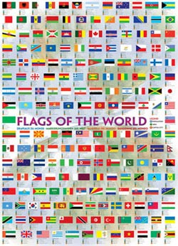 Flags of the World 2008 Geography Jigsaw Puzzle