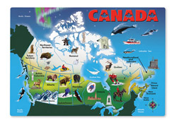 Canada Map Toy