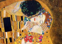 The Kiss (Detail) Romantic Setting Jigsaw Puzzle