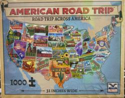 Road Trip America Collage Jigsaw Puzzle