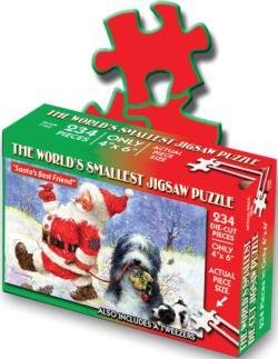 World's Smallest Jigsaw Puzzle -Santa's Best Friend Christmas Jigsaw Puzzle