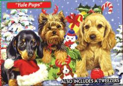 World's Smallest Jigsaw Puzzle - Yule Pups Christmas Impossible Puzzle