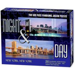New York (Night & Day) Cities Panoramic