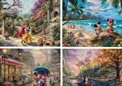 Thomas Kinkaid Disney Assortment 4 in 1 Multipack Puzzle Set Cartoons Multi-Pack