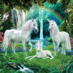 Unicorn Family (Glitter) Unicorns Jigsaw Puzzle