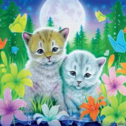 Cat Best Friends (Glitter) Cats Children's Puzzles