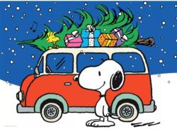 Snoopy with Christmas Tree Christmas Jigsaw Puzzle