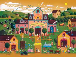 Have a Peachie Day (Home Sweet Home) Folk Art Large Piece