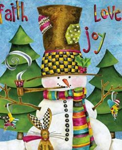 Hearts of joy Christmas Jigsaw Puzzle