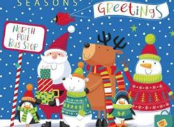 Holiday Bus Stop Christmas Jigsaw Puzzle