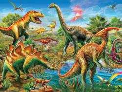 Jurassic Playground - Scratch and Dent Dinosaurs Jigsaw Puzzle