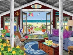 Beach Cottage - Scratch and Dent Cottage / Cabin Jigsaw Puzzle